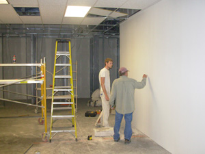 Photo of drywall installation